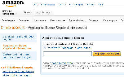 Buoni Regalo gratis da Amazon
