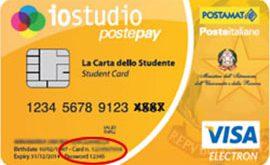 Carta IOSTUDIO Postepay: promozione per studenti