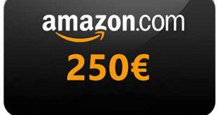 Come ricevere gratis buono Amazon di 250 euro