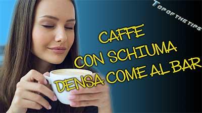 Schiuma caffè come al bar con forno a microonde