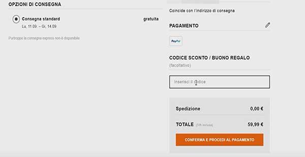 Codice sconto saldi privati spedizione gratuita cheap off for Codice coupon amazon