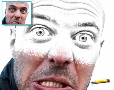 Disegno a matita, download azione gratis Photoshop
