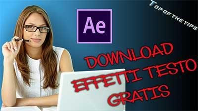 Adobe After effects: Download effetti di testo gratis