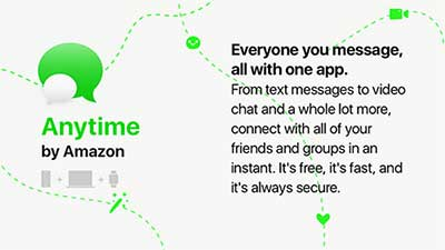 Anytime, la  chat Amazon come WhatsApp