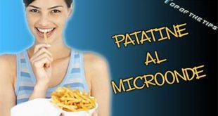 Patatine surgelate nel forno a microonde