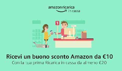 Amazon ricarica in cassa, pagare senza carta di credito