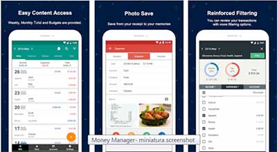 Money manager, app per gestire il bilancio familiare