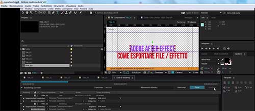 esportare after effects