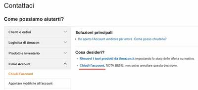 Amazon, come chiudere / eliminare account