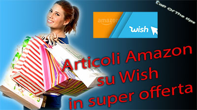 Articoli Amazon su Wish in super offerta